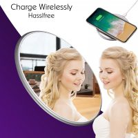 QI Mirror Wireless Charging Pad - Silver