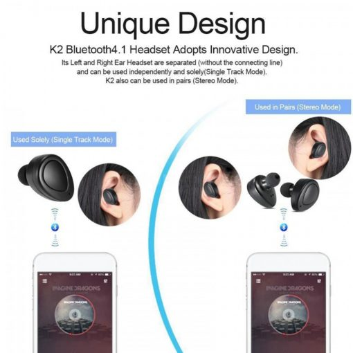 FreeStereo Twins Wireless Headset With Charging Case - Black