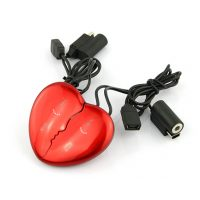 2 Piece Heart Shape MP3 Player - Red