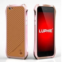 Batman Aluminum Bumper Metal With Leather Back For Iphone 6s Plus - Rose Gold