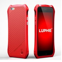 Batman Aluminum Bumper Metal With Leather Back For Iphone 6s Plus - Red