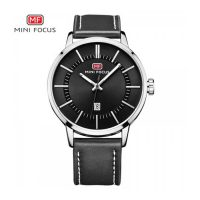 Mini Focus Quartz Leather Strap Watch - Black