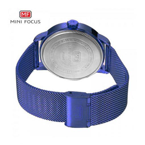 Mini Focus Casual Steel Mesh Strap Watch - Blue