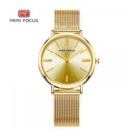 Mini Focus Quartz Women Watch - Gold