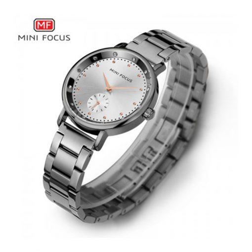 Mini Focus Sub-Dial Luxury Quartz Women Watch - White