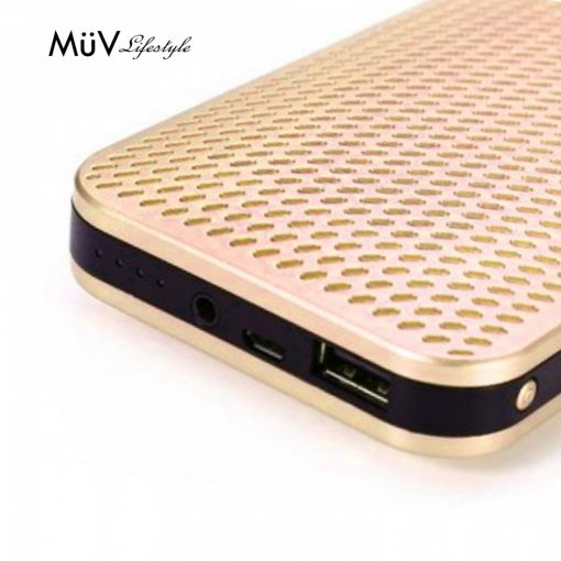 MUV Bluetooth Speaker With 5000 mAh Powerbank - Gold