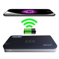 MüV 10000 mah Quick Charge And Wireless Charge Powerbank With 3 USB Port - Black