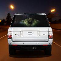 High Beam Super Hero Car Tint Rear Window Sticker DT34 - Black