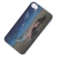 Mermaid 3D Protective case for Iphone 4/4s - White