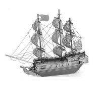Metallic Nano Puzzle -  Black Pearl Ship