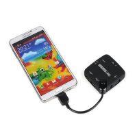 Micro USB OTG Hub And Card Reader - Black