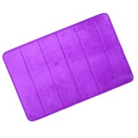 Microfiber Memory Foam Bathroom Mat - Purple