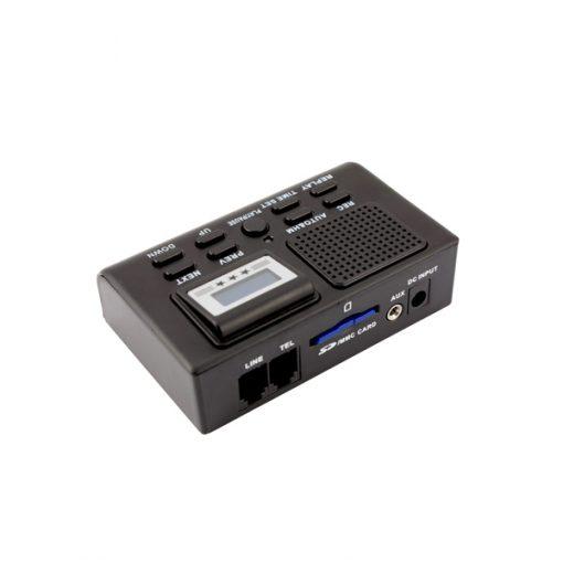 Mini Digital Fixed Telephone Recording Device - Black