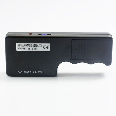 Electric 2 In 1 Metal Voltage Detector with LED Indicator