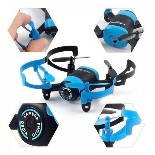 Mini UFO Wifi Phone APP Control Quadcopter With 0.3MP HD Camera  - Blue