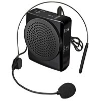 Mini Portable Lapel PA System With Microphone - Black