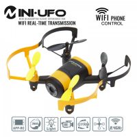 Mini UFO Wifi Phone APP Control Quadcopter With 0.3MP HD Camera - Yellow