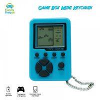 Game Box Mini Brick Game Keychain 26 in 1  - Blue