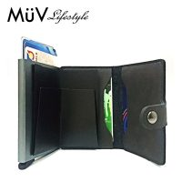 MüV Safecard Wallet Card Case with Anti RFID Reader - Gray
