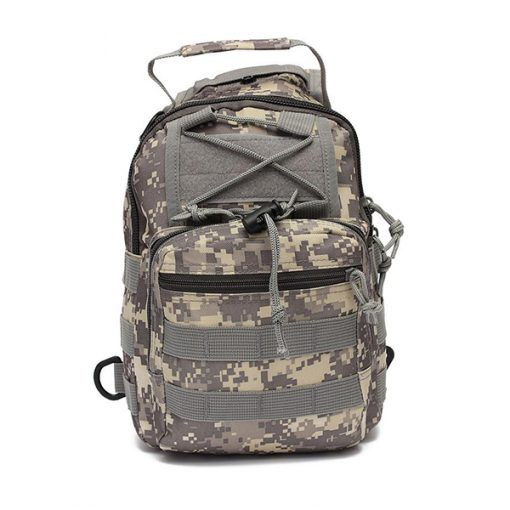 Multifunction Tactical Single Strap Body Bag Camouflage - Gray