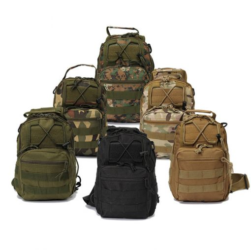 Multifunction Tactical Single Strap Body Bag Camouflage - Green