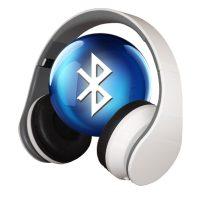 Foldable Adjustable Bluetooth Headphone Super Bass Sound - White
