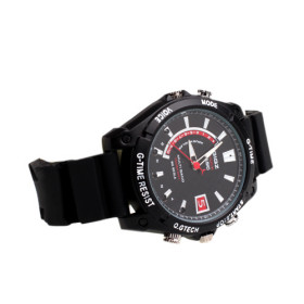Multifunctional Water Proof Fashion Wrist Watch With Camera And IR - Black