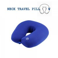Neck Pillow with Electric Massager - Blue