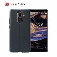 Nokia 7 Plus  Autofocus Silicon Back Cover Case - Black