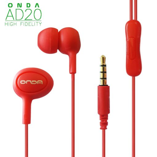 ONDA AD20 High-Fidelity Fashion Earphone - Red