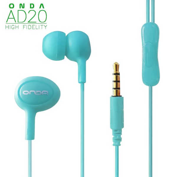 ONDA AD20 High-Fidelity Fashion Earphone - Blue