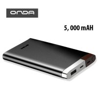 ONDA V50T 5,000 mAh Micro and Lightning Charged Powerbank - Black