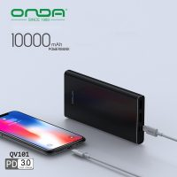Onda QV101 10000 mAh PD Powebank With Type-C Output - Black