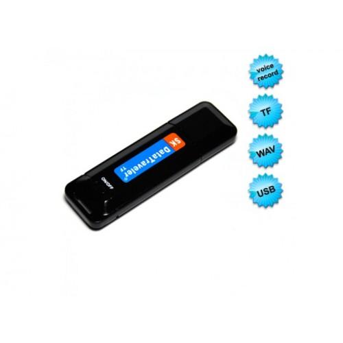 One Button Micro USB Digital Voice Recorder Data Traveler - Black