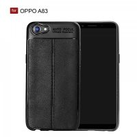 OPPO A83 Autofocus Silicon Back Cover Case - Black