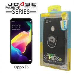 J-Case 360 Oppo A73/F5 Fashion Series Smart Cover with Ring Holder - Black