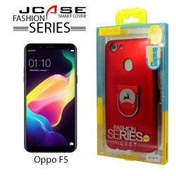 J-case 360 Oppo A73/F5 Fashion Series Smart Cover with Ring Holder - Red