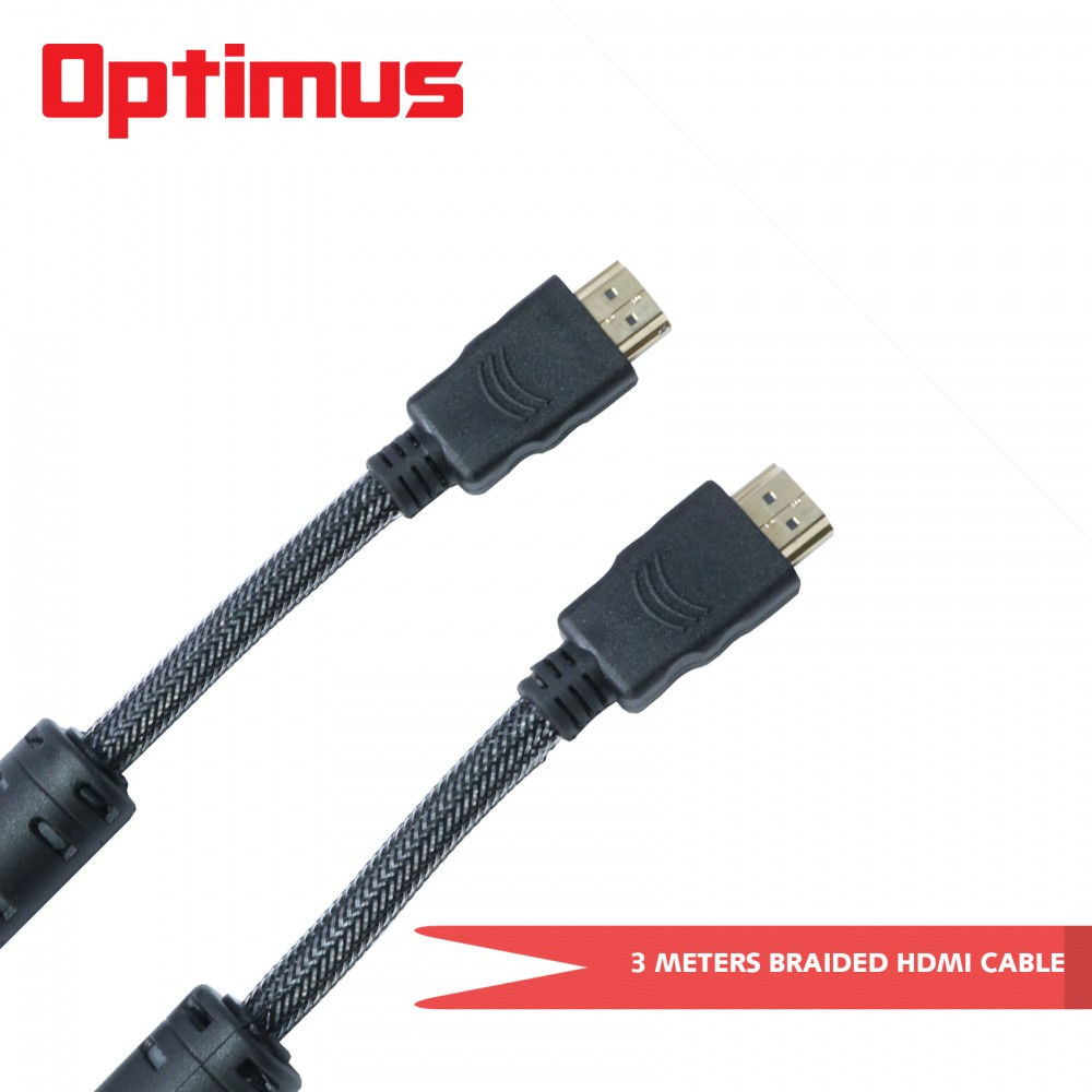 Optimus 3 Meters V1.4 Braided HDMI Cable