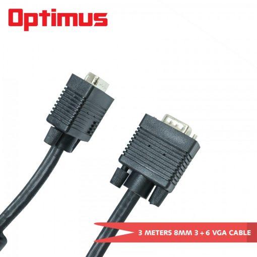 Optimus 3 Meters 8mm 3+6 VGA Cable