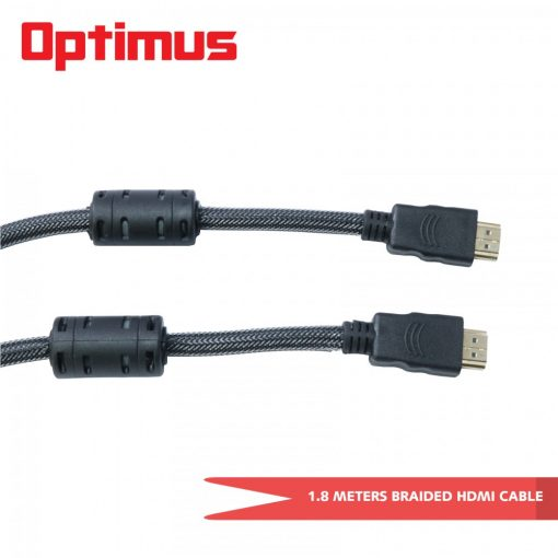 Optimus 1.8 Meters V1.4 Braided HDMI Cable