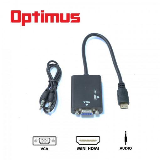 Optimus Mini HDMI to VGA Converter - Black