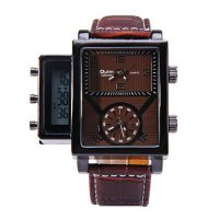 Oulm Digital Day Alarm Wrist Watch - Brown