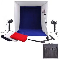 Portable Light Tent Photo Studio Set With Lighting 60 x 60 cm 110- 130V 50watts