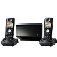 Panasonic KX-TW502SPBC 2 Phones in 1 Sim Cordless Type GSM Fixed Wireless Terminal - Black