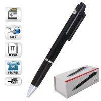 Pen With Audio Voice Recorder MP3 And 4GB Internal Memory - Black