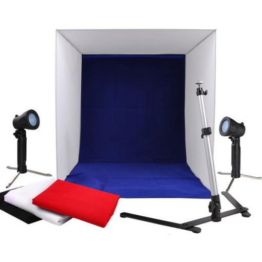 Portable Light Tent Photo Studio Set With Lighting 60 x 60 cm 250 volts