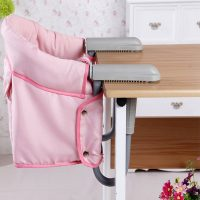 Portable Desk Mount Toddler Dining Chair - Pink