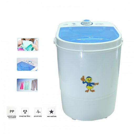 2.5 Kg. Mini Portable  Automatic Washing Machine With Dryer - White