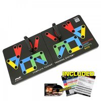PUSH UP BAR Training System Power Press Workout Fitness Gym Exercise - Black