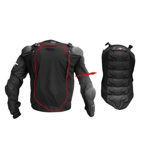 Pro Biker Motorcycle Hard Shell Safety Jacket Size L - Black
